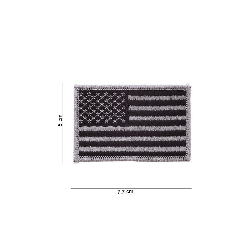 Patch drapeau :  USA argent