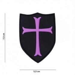 Patch 3D PVC Crusader pink