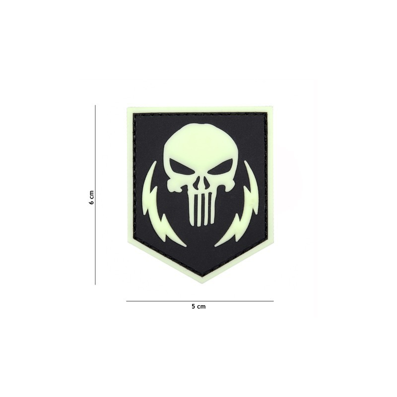 Patch 3D PVC Punisher thunder strokes clow in the dark