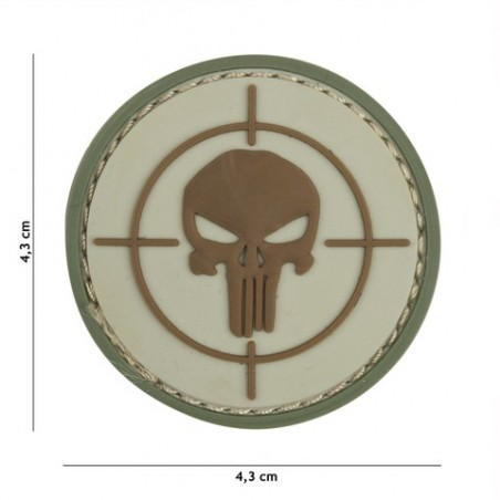 Patch 3D PVC Punisher sight coyote