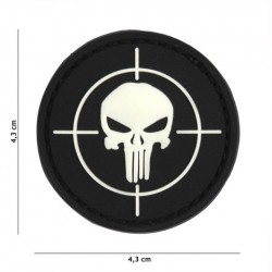Patch 3D PVC Punisher sight black