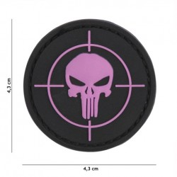 Patch 3D PVC Punisher sight pink