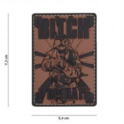 Patch 3D PVC Bitch bruin