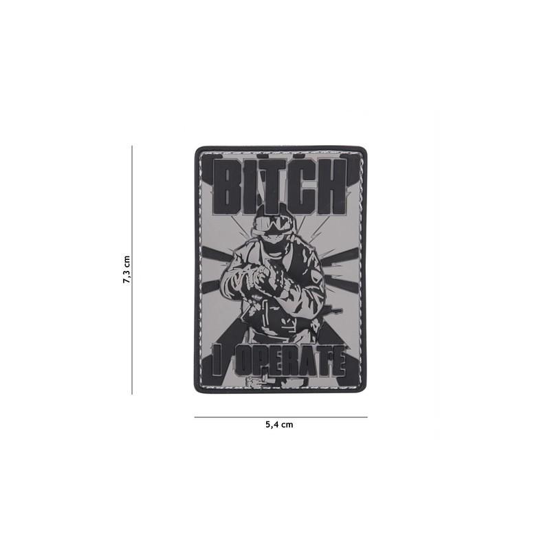 Patch 3D PVC Bitch grey