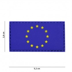 Patch 3D PVC EU blue