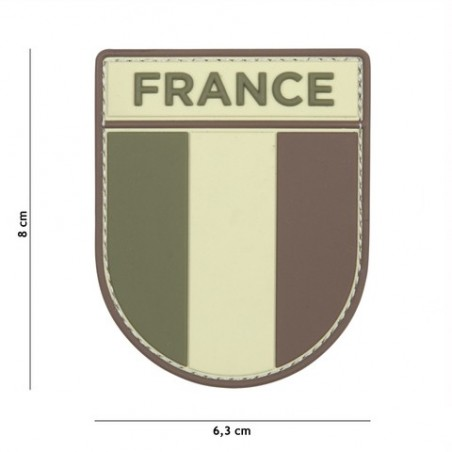 Patch 3D PVC French army multi