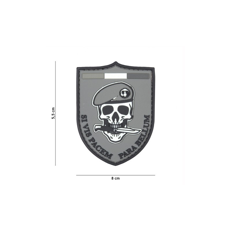 Patch 3D PVC SI VIS Pacem grey