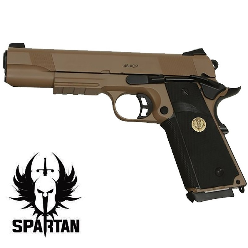 SPARTAN STS-9 1911 Tan Metal Gaz/Co2 BB