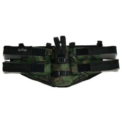 Paintball Harnais GxG 4 pots + emplacement bouteille camo Horizontal