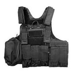 Veste SWISS ARMS Tactique CRS noir