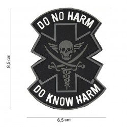 Patch 3D PVC : Do no harm, noir