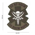 Patch 3D PVC :  Do no harm,  marron