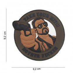 Patch 3D PVC : Take your hit  (marron)