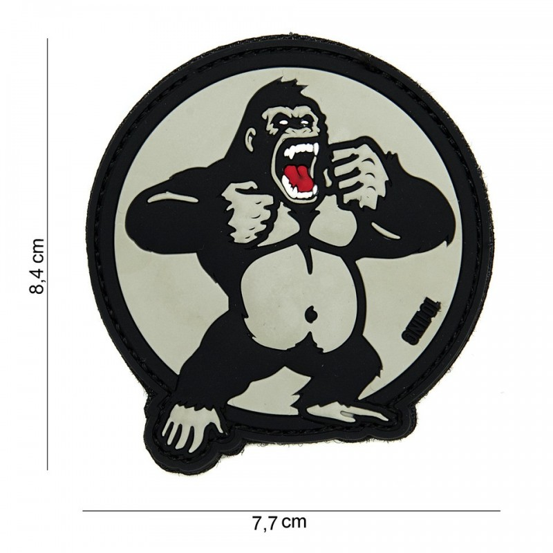 Patch 3D PVC : King Kong   blanc