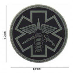 Patch : 3D PVC Para medic, gris
