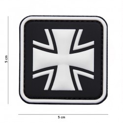 Patch 3D PVC German cross black No8075