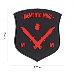 Patch 3D PVC Memento Mori shield dagger