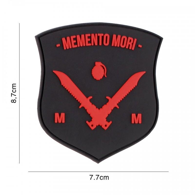 Patch 3D PVC Memento Mori shield dagger