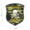 Patch 3D PVC Memento Mori shield skull woodland