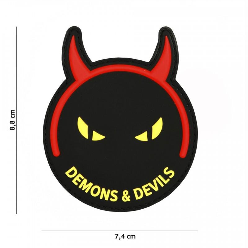 Patch 3D PVC Demons & Devils black/yellow