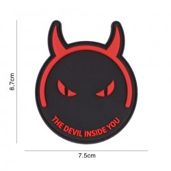Patch 3D PVC Demons & devils black/red