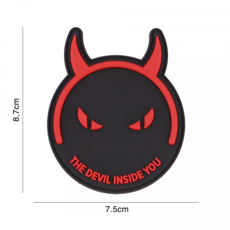 Patch 3D PVC Demons & devils black/red
