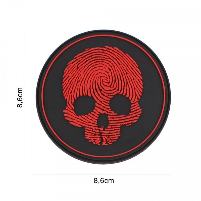 Patch 3D PVC fingerprint red No5119