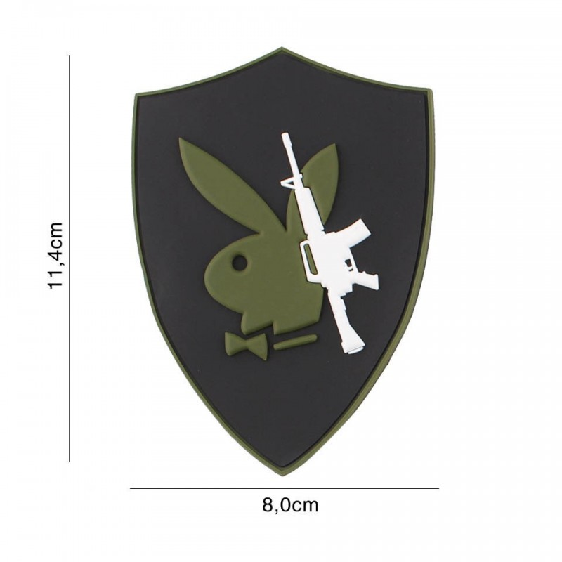 Patch 3D PVC Playboy gun No5116