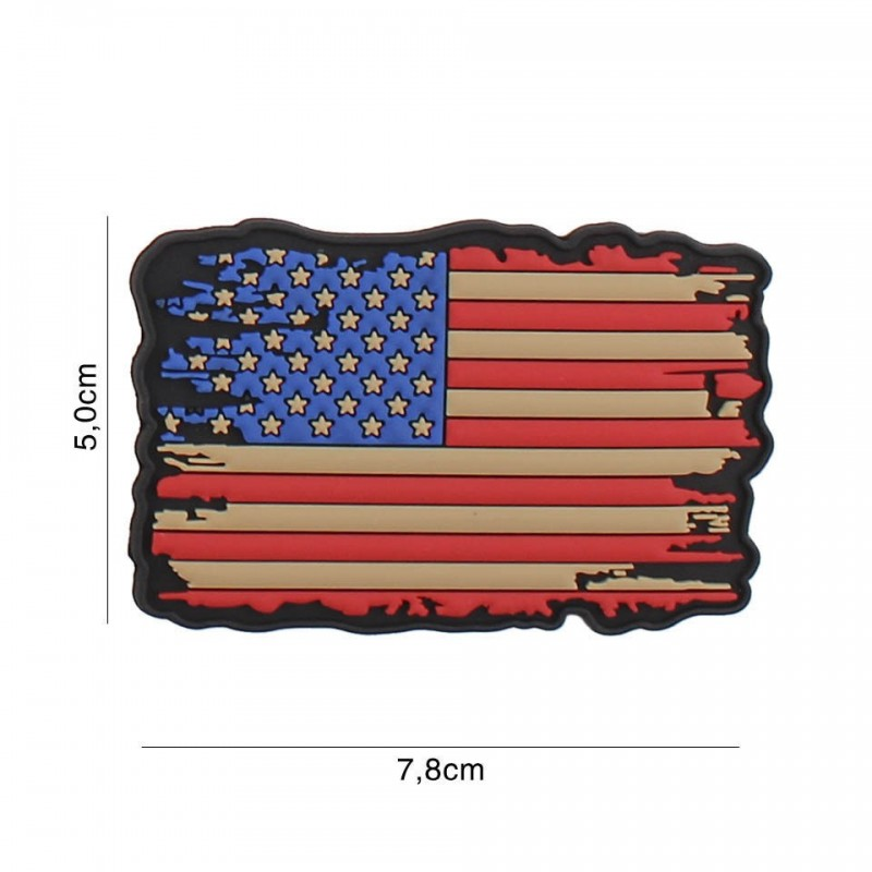 Patch 3D PVC USA vintage