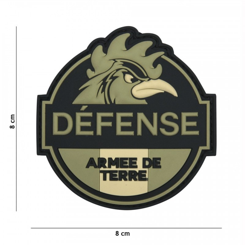 Patch 3D PVC Defense Armee de Terre green