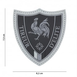 Patch 3D PVC Tireur D'elite black