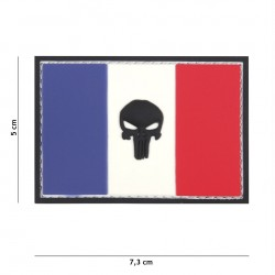 Patch 3D PVC Punisher France flag