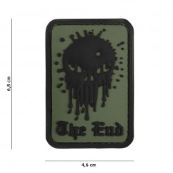 Patch 3D PVC Skull The End green