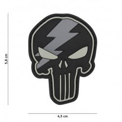 Patch 3D PVC Punisher thunder grey