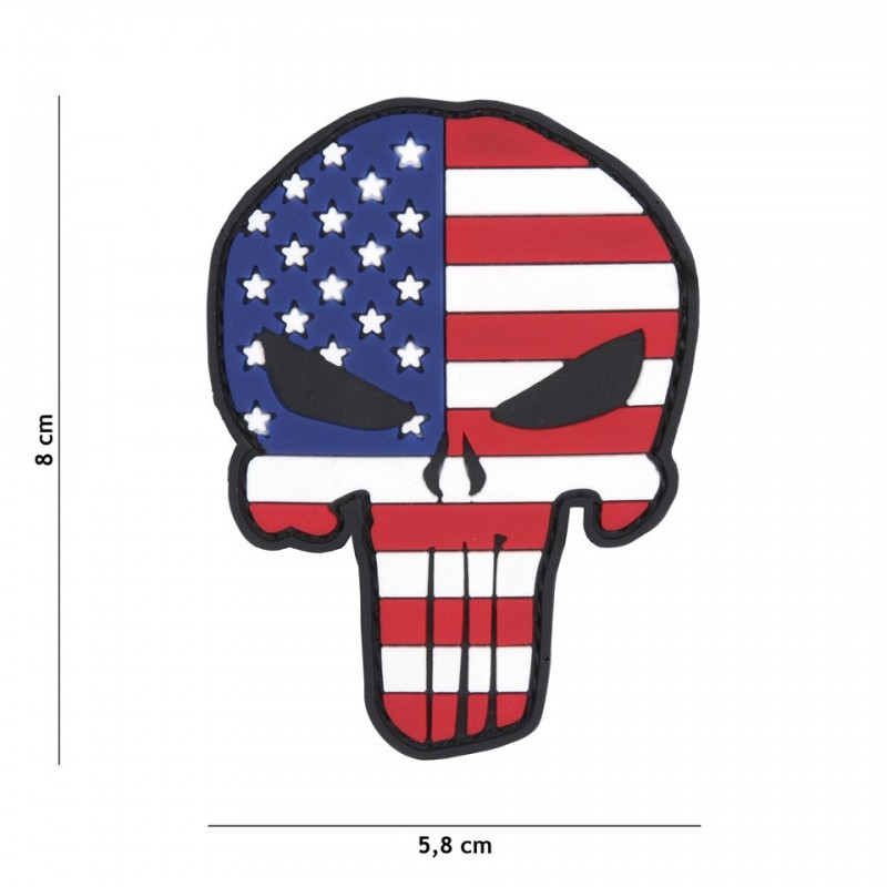 Patch 3D PVC Punisher USA