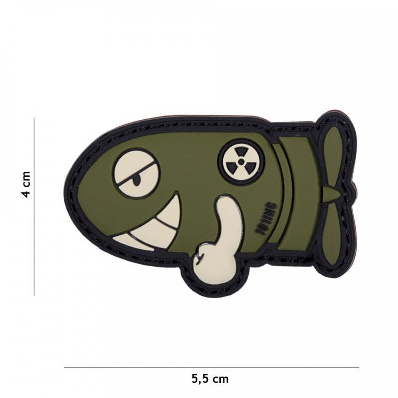 Patch 3D PVC Funny torpedo green