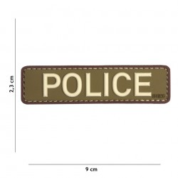 Patch 3D PVC Police green/brown