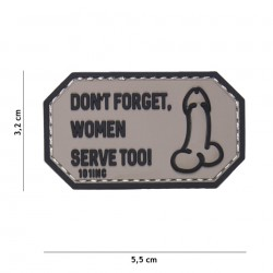 Patch 3D PVC Don't forget Women grey