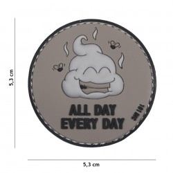 Patch 3D PVC All Day Every Day grey