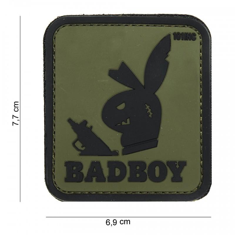 Patch 3D PVC : Badboy : vert