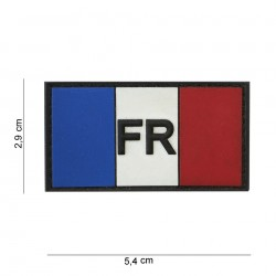 Patch 3D PVC : France. Bleu/Blanc/Rouge