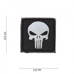 Patch PVC Punisher white