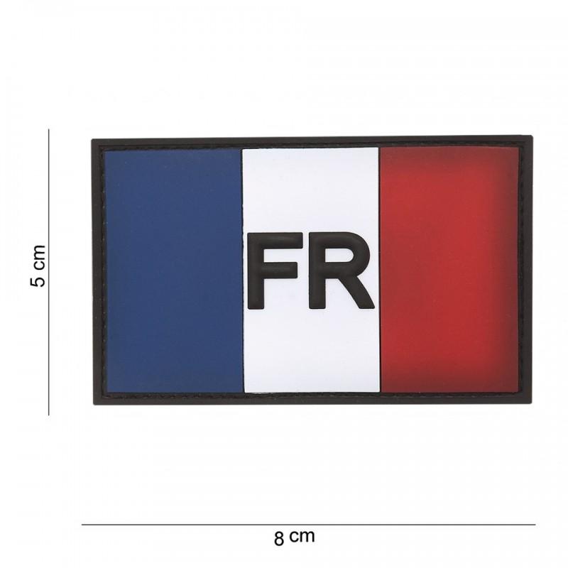 Patch 3D PVC : Drapeau  France avec velcro
