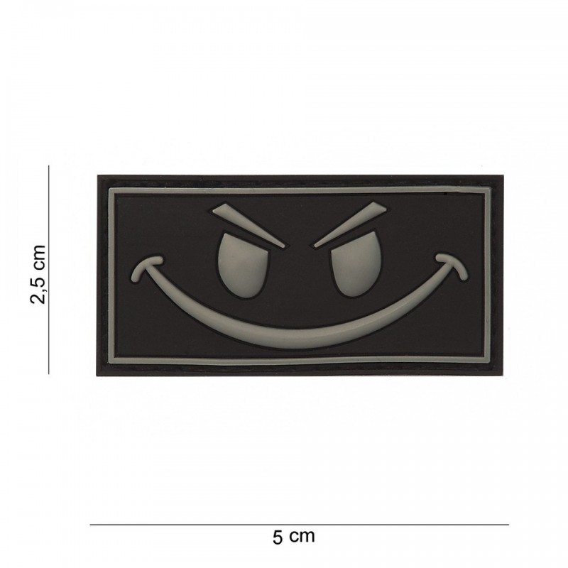 Patch 3D PVC : Evil smiley avec velcro