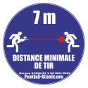 Panneau Signalétique Distance Tir