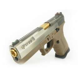GP1799 T4 - GBB, metal silver slide, TAN frame, gold barrel