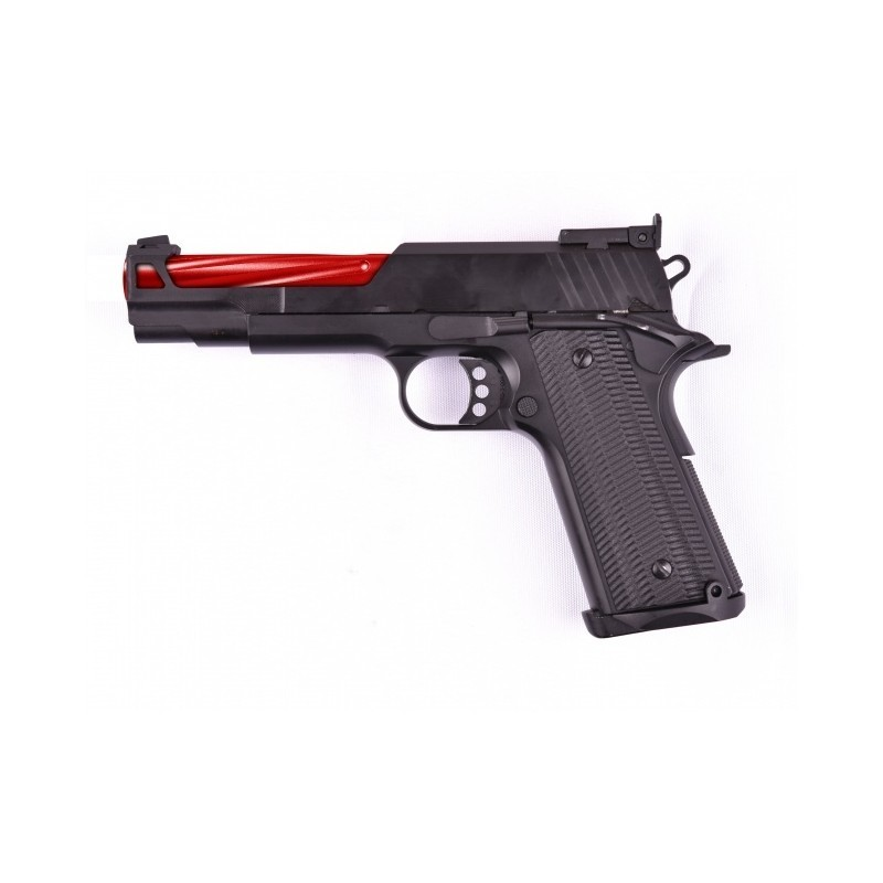 REPLIQUE DE POING GE1911 RED AVEC MALLETTE