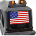 R18C (G002B-B) Gen4, metal slide, GBB, black - USA flag