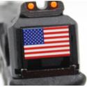 R17 (G001A-B) Gen3, metal slide, GBB, black - USA flag