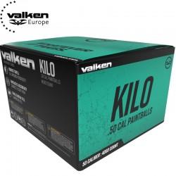 Carton 4000 billes paintball calibre 50 Valken Kilo